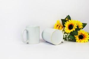 热转印烫画陶瓷空白杯11oz带涂层马克杯
